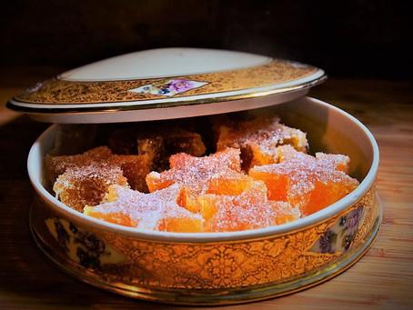 Pâtes de fruits étoiles de Noël à la mangue