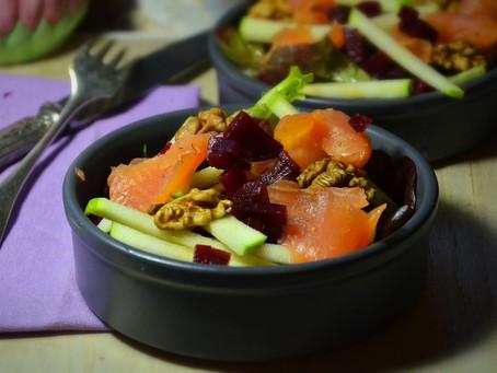 Salade d'automne pour Octobre Rose