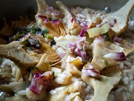 Risotto aux artichauts (risotto ai carciofi)