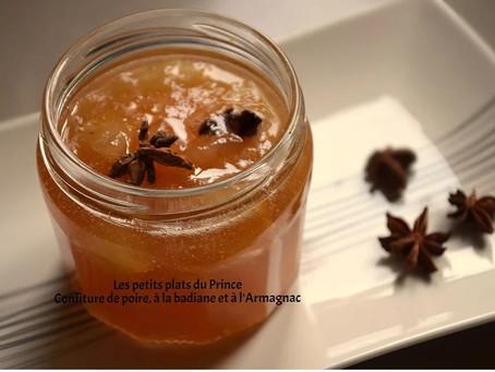 Confiture de poires à la badiane et armagnac