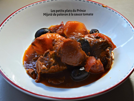 Mijoté de paleron de bœuf à la sauce tomate