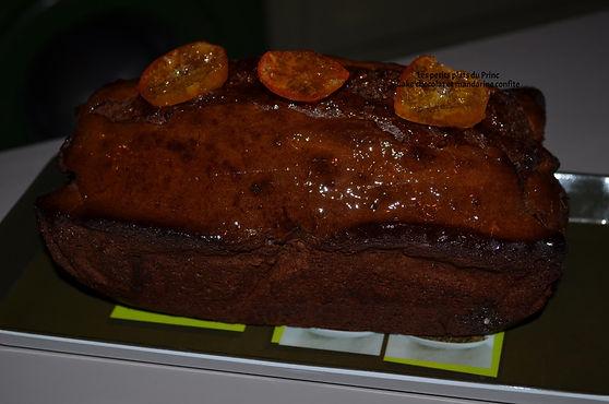 Cake chocolat et mandarine confite
