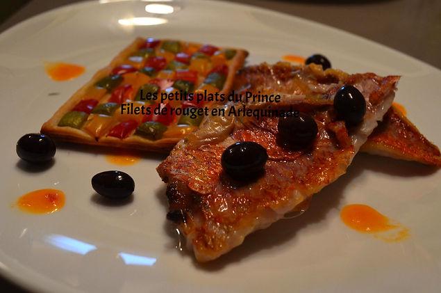 Filets de rouget en Arlequinade