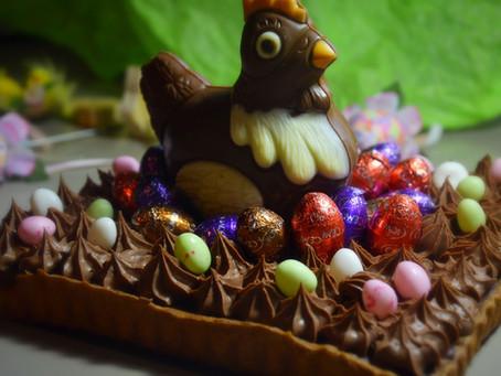Tarte choco caramel pour Pâques