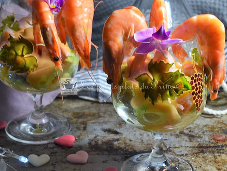 Salade de crevettes sauce cocktail
