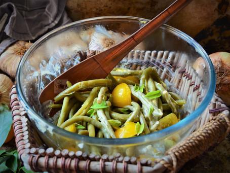 Salade de haricots verts du jardin