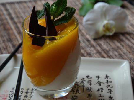 Panacotta à la crème de coco et mangue