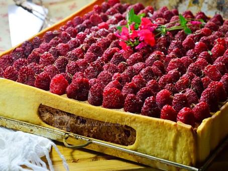 Gâteau cagette chocolat framboise