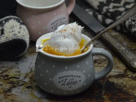 Cappuccino de potiron ou de citrouille