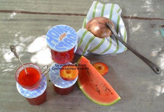 Confiture pastèque et prunes