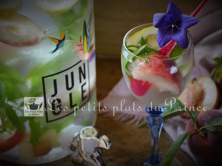 Flavored Water, peach and verbena lemongrass :  eau parfumée naturelle à la pêche et verveine citron