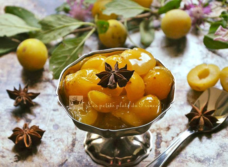 Compotée de mirabelles au miel et épices