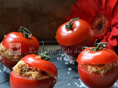 Tomates cocktail à la mousse de maquereau