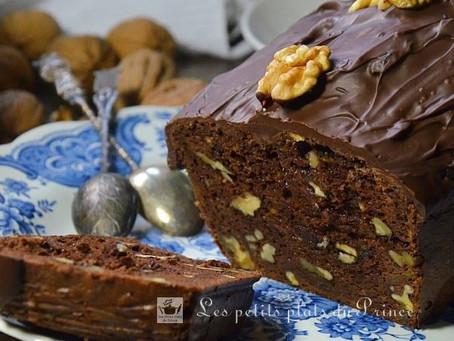 Cake chocolat et noix : recette sans lactose à la citrouille