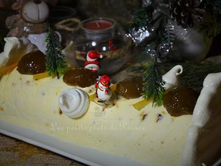 Nougat glacé aux marrons confits, fruits secs et orangettes