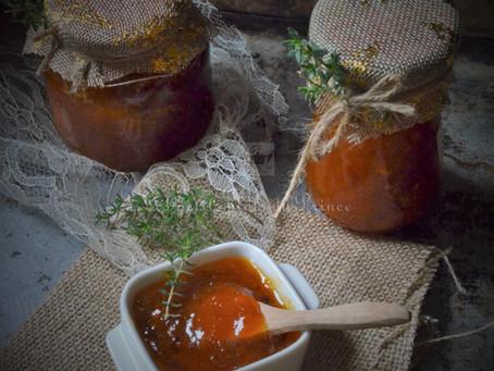Confiture d'abricot au thym frais du jardin