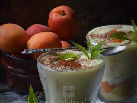 Tiramisu abricot verveine citronnelle