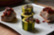 Filet mignon chorizo et courgettes à l'ail