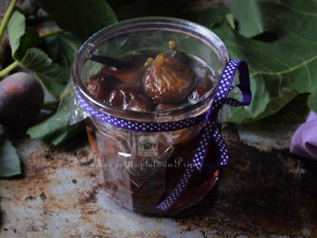 Figues confites au sirop de vanille