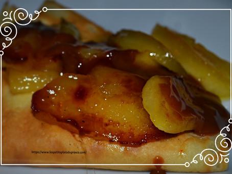 Crêpes tatin de pommes sauce carambar pour la Chandeleur