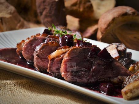 Magret de canard sauce au vin rouge et échalotes