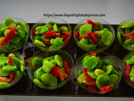 Verrines de fèves au chorizo
