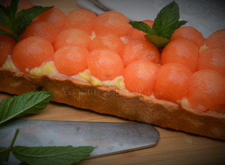 Tarte aux billes de melon et Floc de Gascogne