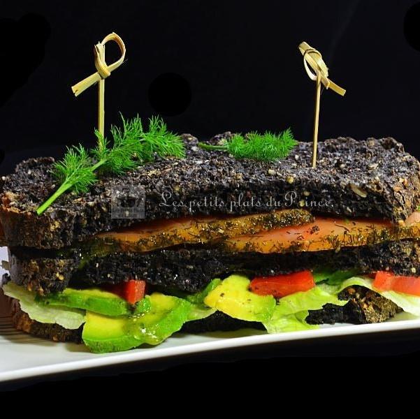 sandwich club au saumon