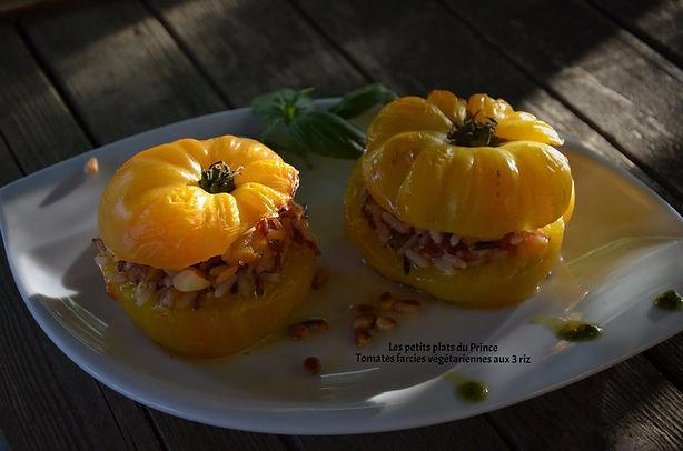 Tomates farcies végétariennes aux 3 riz