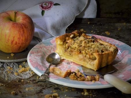 Tarte aux pommes façon crumble aux noix
