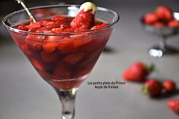 Aspic de fraises