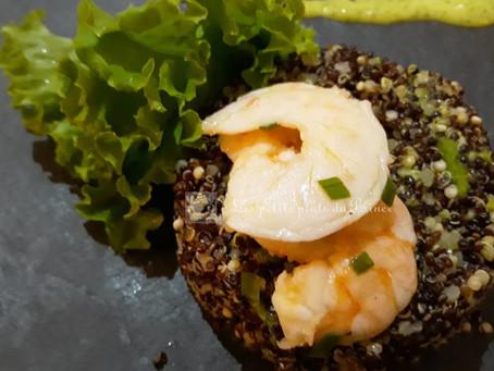 Salade chilienne au quinoa et avocat crevettes