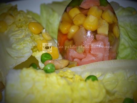 Aspic de légumes comme un œuf de Pâques