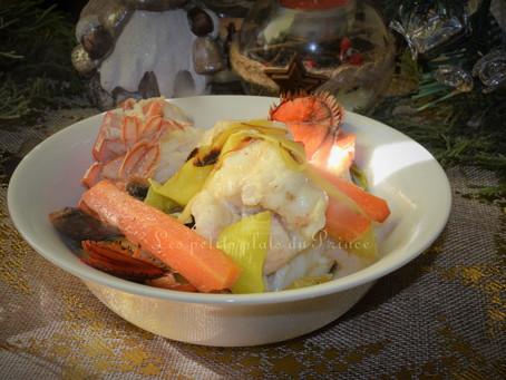 Cocotte de lotte et homard en sauce crémée pour Nouvel An