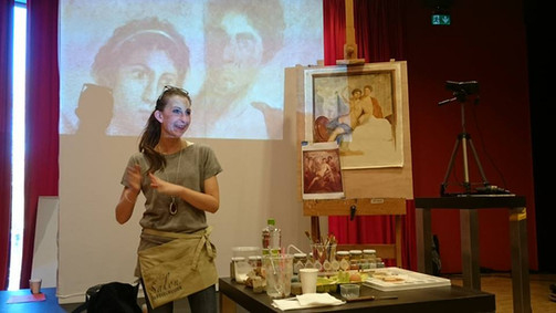 15 Master-classes. Caterina Manisco: Grotesque with eggtempera