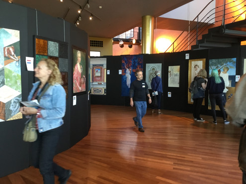 Exhibition: Paintings by Salon Artists from 21 countries.