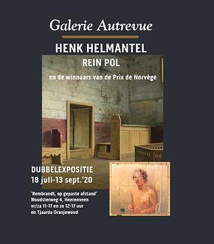 Poster Henk Helmantel en Rein Pol met ra