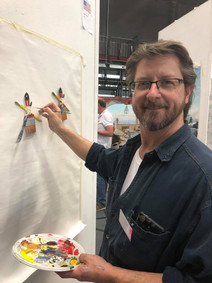 Live Demonstrations in which every Salon artist will paintduring the show. Visitors are welcome to come all 4 days of the show to watch progress, ask questions and learn techniques and secrets from the masters of Salon.