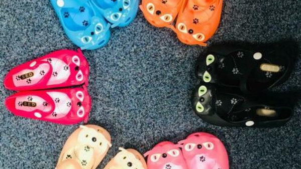 Children's Jelly Kitty Shoes