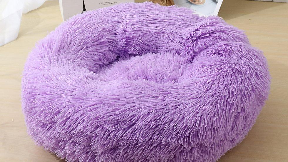 Fluffy Doughnut Cat Bed