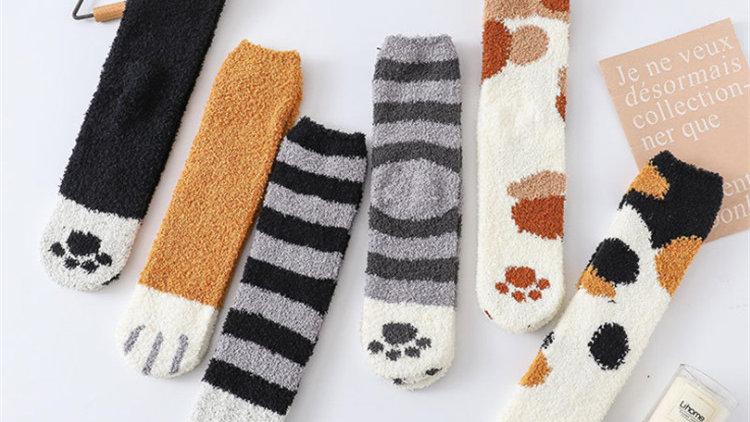 Fluffy Cat Socks