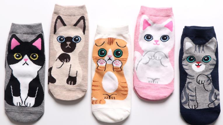 Kitty Character Socks