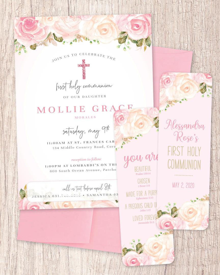 Communion Invitation + Bookmarks