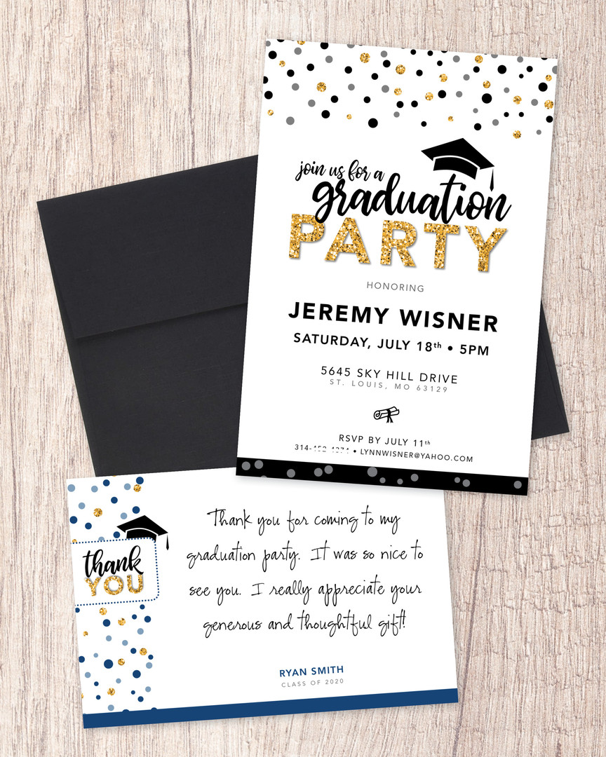Graduation Party Invitation Package