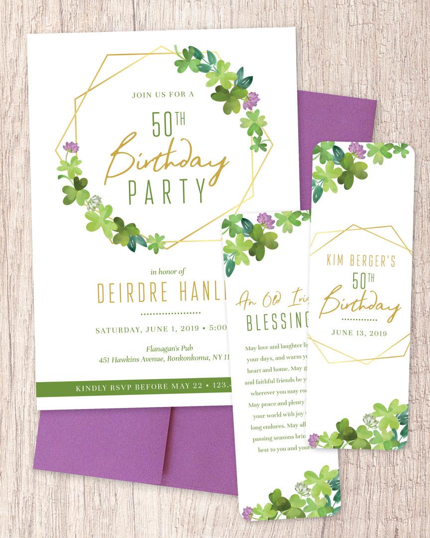 Birthday Invitation + Bookmarks