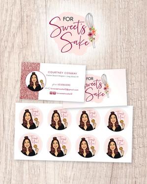 Logo Design, Business Card + Stickers