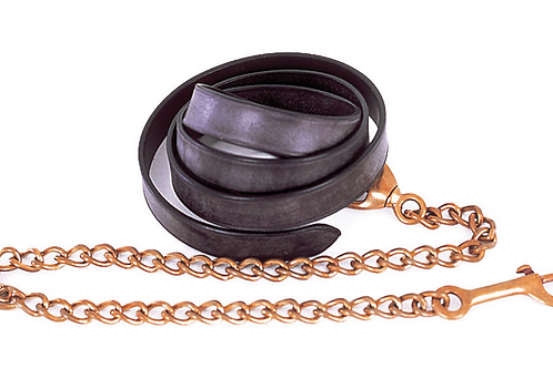 Leather Lead and Chain (235)