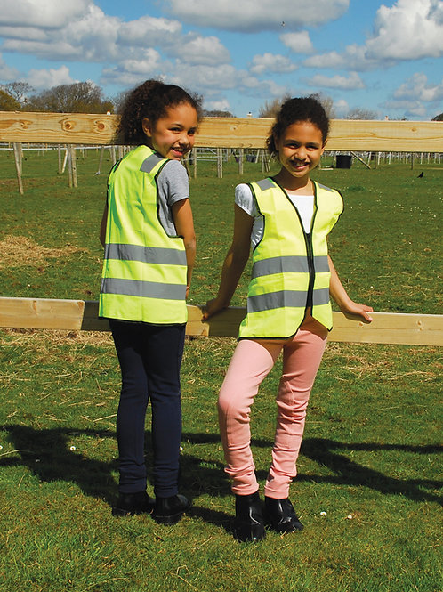 Harlequin Childs Hi-Vis Zipped Tabard