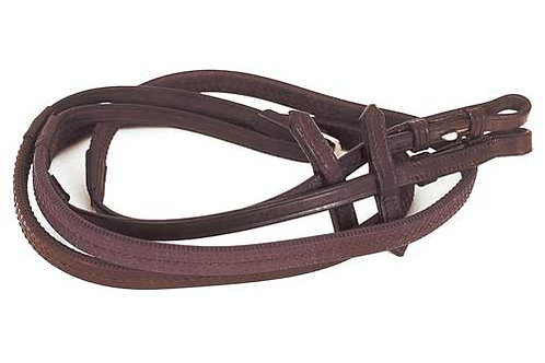 Heritage English Leather Rubber Covered Reins - Child's Length