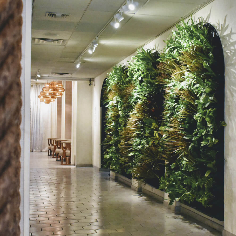 Arched Green Living Walls